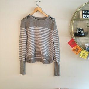 Free people grey striped sweater